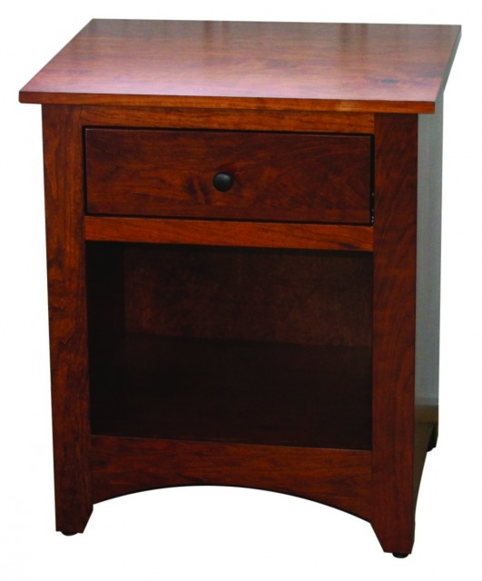 Country Shaker Nightstand w/1 drawer