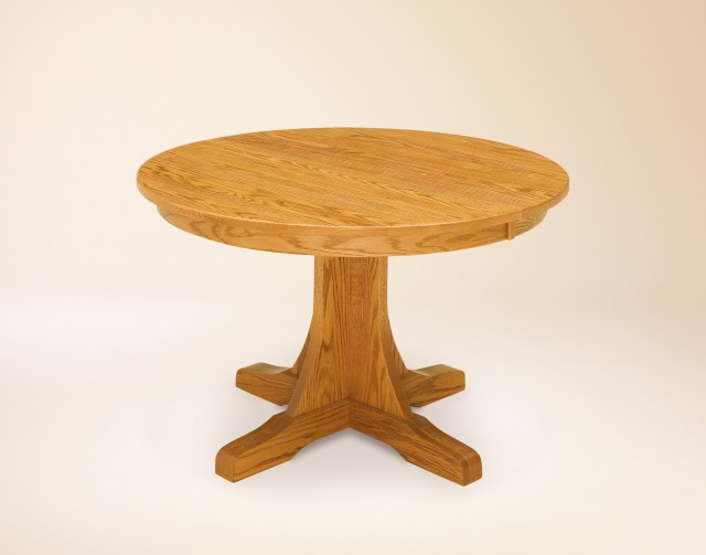 Single Pedestal Mission Pub Table
