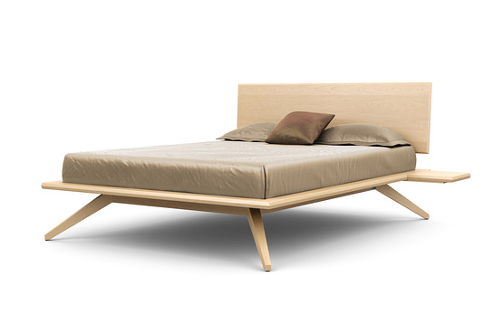 ASTRID BED WITH 1 ADJUSTABLE HEADBOARD PANEL IN MAPLE