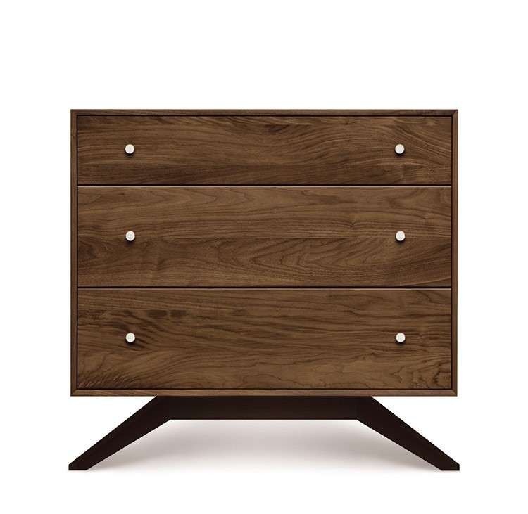 ASTRID 3 DRAWER IN WALNUT AND DARK CHOCOLATE MAPLE
